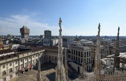 Milan Cathedral-dak Royalty-vrije Stock Afbeelding