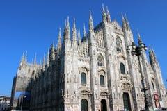 Milan Cathedral dal quadrato Immagini Stock Libere da Diritti