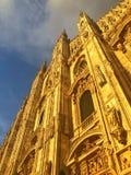 Milan Cathedral is de kathedraalkerk van Milaan in Lombardije, nr Stock Fotografie
