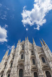 Milan cathedral. Detail of the Milan cathedral in Italy on sunny day royalty free stock images