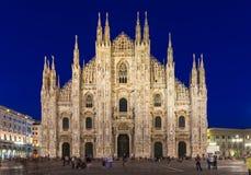 Milan Cathedral (di Milão do domo) em Milão, Itália Imagens de Stock Royalty Free