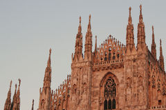 Milan cathedral,Dome,Duomo. Milan Cathedral (Duomo di Milano) is the cathedral church of Milan in Lombardy, northern Italy. It is the seat of the Archbishop of Royalty Free Stock Photo