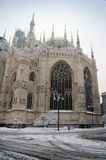 Milan cathedral dome in winter Royalty Free Stock Image