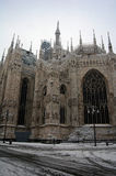Milan cathedral dome in winter Royalty Free Stock Images