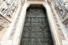Milan cathedral door Royalty Free Stock Photo
