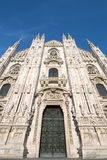 Milan Cathedral door Royalty Free Stock Images