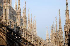 Milan Cathedral - Duomo, detail Stock Photos