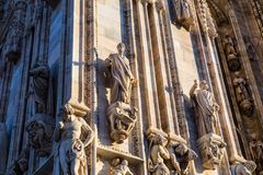 Duomo di Milano. Milan Cathedral Duomo di Milano is the cathedral church of Milan in Lombardy, northern Italy. It is the seat of the Archbishop of Milan,shot at royalty free stock photography