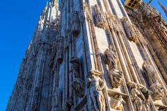 Duomo di Milano. Milan Cathedral Duomo di Milano is the cathedral church of Milan in Lombardy, northern Italy. It is the seat of the Archbishop of Milan,shot at royalty free stock images