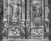 Milan Cathedral Duomo di Milano-detail royalty-vrije stock foto