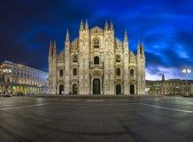 Milan Cathedral (Duomo di Milano) and Duomo Square. In the Morning, Milan, Italy Royalty Free Stock Image