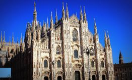 Milan Cathedral or Duomo di Milano is the gothic cathedral church of Milan, Italy.  Royalty Free Stock Photos