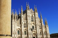 Milan Cathedral or Duomo di Milano is the gothic cathedral church of Milan, Italy.  Stock Photography