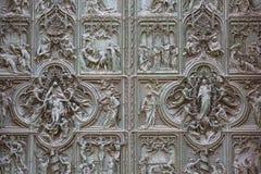Milan Cathedral Duomo di Milano gotisk kyrka, Milan, Italien arkivfoton