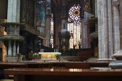 Milan Cathedral (Duomo di Milano) interior. Inside the church royalty free stock photography