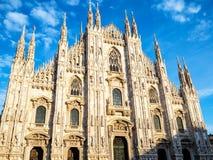 Milan Cathedral Duomo di Milano-middag royalty-vrije stock afbeelding