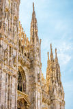 Duomo di Milano in Milan, Italy. Milan Cathedral Duomo di Milano in Milan, Italy. Milan Duomo is the largest church in Italy and the fifth largest in the world Royalty Free Stock Image