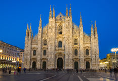 Milan Cathedral (Duomo di Milano) in Milan, Italy. Night view of Milan Cathedral (Duomo di Milano) in Milan, Italy Royalty Free Stock Photos