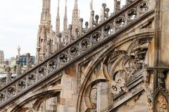 Milan Cathedral, Duomo di Milano, view. Famous Italian landmark Royalty Free Stock Photos