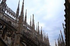 Milan Cathedral, Duomo di Milano, view. Famous Italian landmark Stock Images