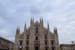 Milan Cathedral, Duomo di Milano, view. Famous Italian landmark. Gothic architecture Stock Photo