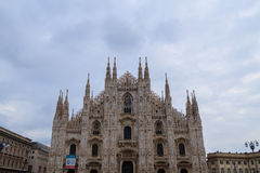 Milan Cathedral, Duomo di Milano, view. Famous Italian landmark Stock Photo