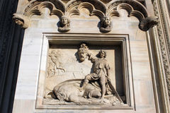 Milan cathedral Duomo,Dome,david versus goliath Stock Photos