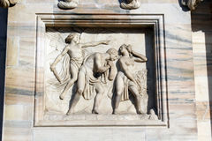 Milan cathedral Duomo,Dome,expelling from paradise Stock Photography