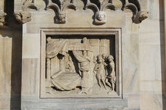 Milan cathedral Duomo,Dome,king salomon bed Stock Image