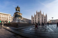 Milan Cathedral Duomo Outdoors Place Italy December Christmas De Royalty Free Stock Photography
