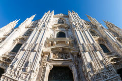 Milan Cathedral Duomo Outdoors Place Italy December Christmas De Royalty Free Stock Image