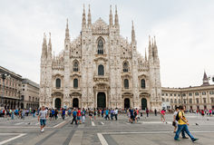 Milan Cathedral, Duomo and Vittorio Emanuele II Gallery at Piazz Royalty Free Stock Photography