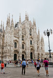 Milan Cathedral, Duomo and Vittorio Emanuele II Gallery at Piazz Stock Images