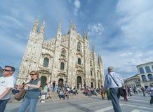 Milan Cathedral en Piazza Duomo, Italia Imagenes de archivo