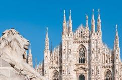 Milan Cathedral facade Royalty Free Stock Photos
