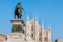 Milan Cathedral facade, Piazza del Duomo Stock Photography