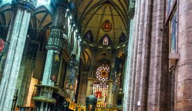 Milan Cathedral Hall Royalty Free Stock Images