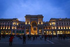 Milan Cathedral i Italien Arkivbild