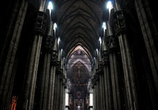 Milan Cathedral Interior Royalty Free Stock Photo