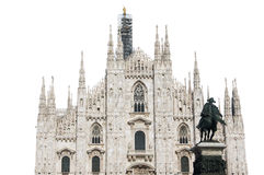 Milan Cathedral Isolated Stock Photography