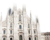 Milan Cathedral Isolated Royalty Free Stock Photo