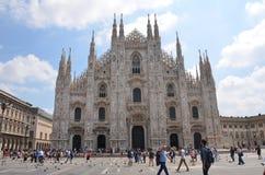Milan Cathedral - Duomo. Milan Cathedral (Italian: Duomo di Milano; Lombard: Domm de Milan) is the cathedral church of Milan, Italy. Dedicated to Santa Maria Stock Photo