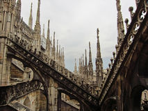 Milan Cathedral Italien Arkivfoto