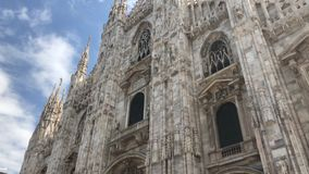 Milan Cathedral, Milan, Italy. Duomo di Milano, Milan Cathedral is the cathedral church of Milan in Lombardy, northern Italy. Dedicated to St Mary of the stock video footage