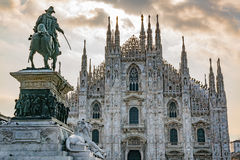 Milan Cathedral in Italy. Gothic architecture of Milan Catherdral Basilica of the Nativity of Saint Mary royalty free stock image
