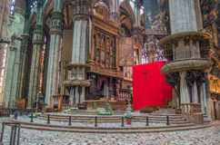 Milan Cathedral 7. Italy's Milan Cathedral internal and external Royalty Free Stock Image