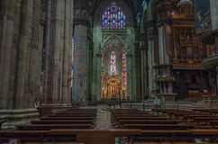 Milan Cathedral 8. Italy's Milan Cathedral internal and external Royalty Free Stock Images