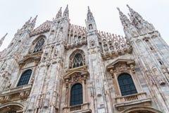 Milan Cathedral Low Angle Fotografia Stock Libera da Diritti