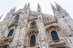 Milan Cathedral Low Angle Royalty Free Stock Photography