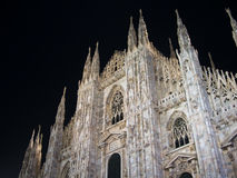 Milan cathedral at night Royalty Free Stock Images